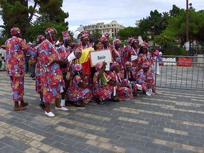 La délégation béninoise à la cérémonie d'ouverture des Jeux de la Francophonie à Nice