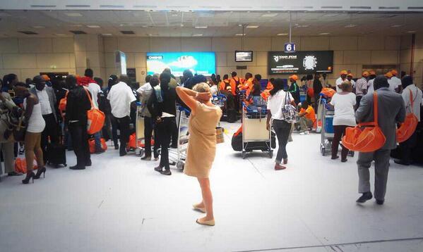 Délégation Ivoirienne à l'aéroport de Nice