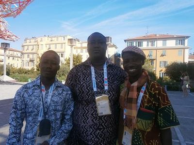 Artistes conteurs béninois   aux Jeux de la Francophonie 2013 Photo: Sinatou Saka