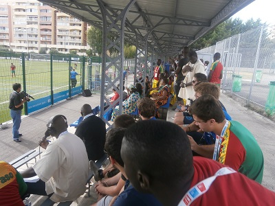 Les spectateurs du Match: Photo: Sinatou Saka