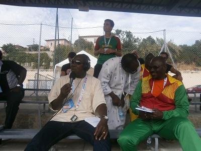 Les commentateurs du Match: Photo: Sinatou Saka